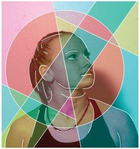 mixed media photography and vectors portraits